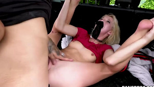 Bruno weared a mask and fuck his tiny girlfriend Kenzie Reeves!