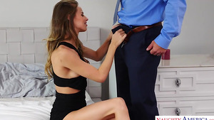 Young slut Jillian Janson masturbate in her room and seduced her mom's new husband Johnny!