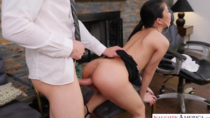 20 y.o. asian babe Jade Kush fuck in office in adult tube porn!