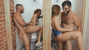 Fuck identical twins Joey White and Sami White in bathroom!