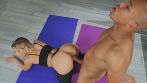 Young yoga babe Abella Danger fucked by BBC!
