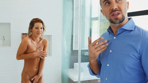 Bella Elise Rose catches peeping stepfather Keiran jerking off HD porn tubes.