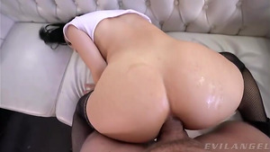 Slutty asian babe Judy Jolie anal vaginal ass2pussy2mouth sex video free